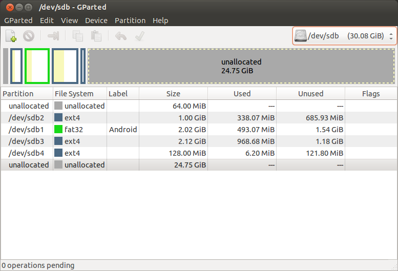 HOW-TO] Resize Android FAT32 partition (/mnt/sdcard) - ODROID